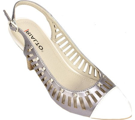 'MARTINA' Pewter Women's Heel Rialto Shoes RwSHTT