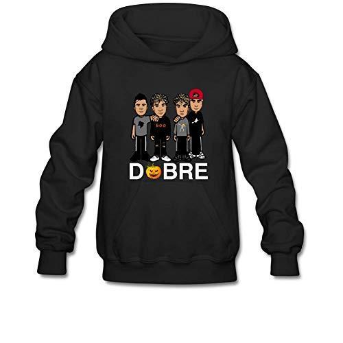 Aliensee Youth Halloween Pumpkin Dobre Brothers Hoodie Sweatshirt Suitable for 10-15yr Old L Black -