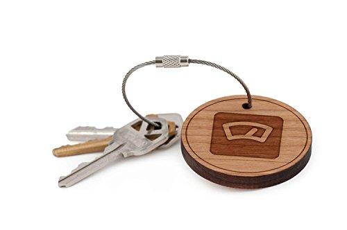 Bathroom Scale Keychain, Wood Twist Cable Keychain - Large