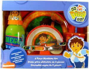Zak Designs Diego 6 Piece Mealtime Set   B00VDXRNGC
