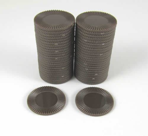 Koplow Games Brown Mini Poker Chip 7/8in Tube of 50ea
