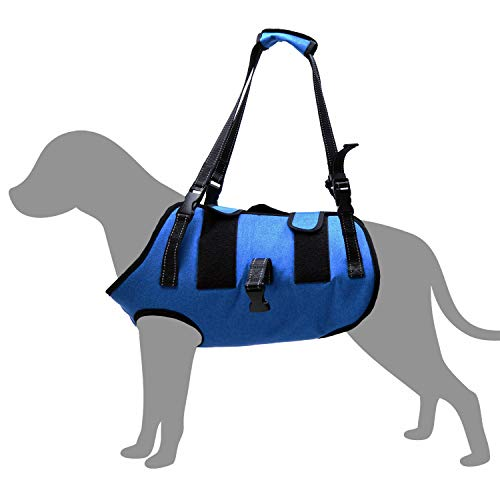 Full Body Dog Support Harness Vest,Adjustable Rehab Lift Sling with Detachable Straps,Help for Large Dogs Who are Mobility Impaired Caused by Old,Disabled,Joint Injuries, Arthritis,Post-op (L)