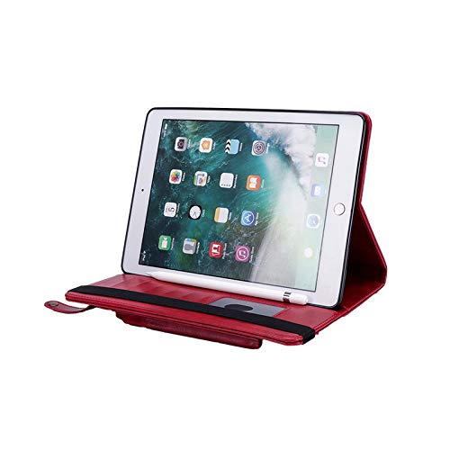Case with Stand for ipad pro 12.9 2018,MeiLiio Full Body Protective Shockproof Case with Stand,Premium PU Leather Slim Protective Folio Cover for iPad Pro 12.9 Inch 3rd Gen 2018 Release,Red by MeiLiio (Image #3)