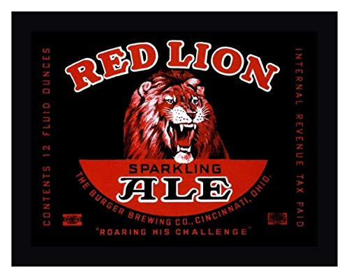 Red Lion Ale by Vintage Booze Labels - 12