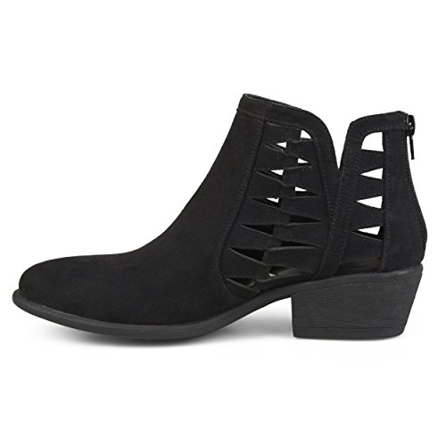 Journee Collection Womens Faux Suede Side Slit Booties Black Ny0wwGCwkU