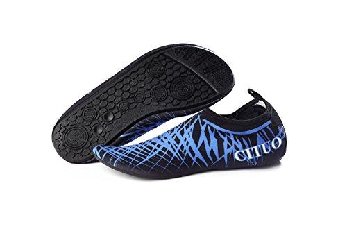 Swim Walking Boating Blue Driving Aqua Shoes Women Barefoot Water Shoes Shoes Men Black on Dry Quick BETTERLINE Beach for Yoga TqWOBAzwW