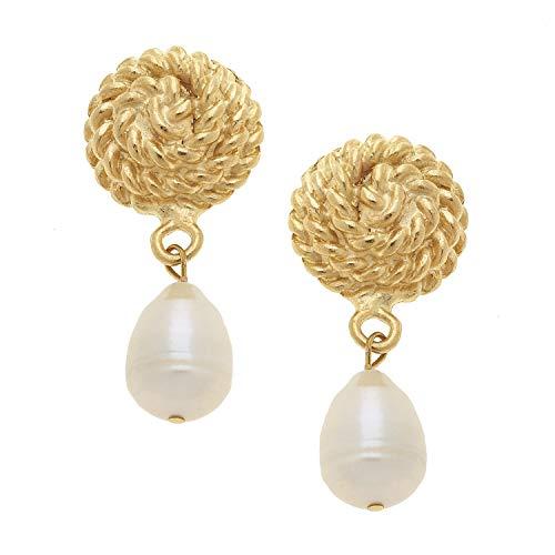 Susan Shaw Freshwater Pearl Rope Earrings ()