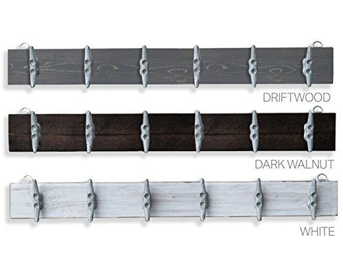 Driftwood Gray Cleat Rack -Choose Color (Medium Driftwood Color)