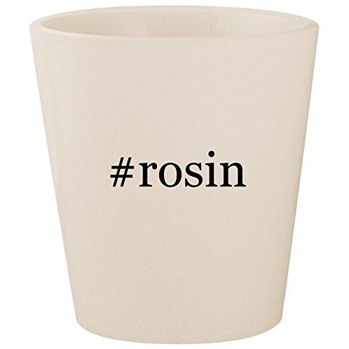#rosin - White Hashtag Ceramic 1.5oz Shot Glass