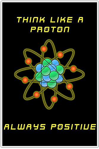 Think Like A Proton Curiosity Science Classroom School Education Poster