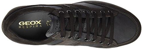Geox U Avery A, Scarpe da Ginnastica Basse Uomo Grau (Anthracitec9004)