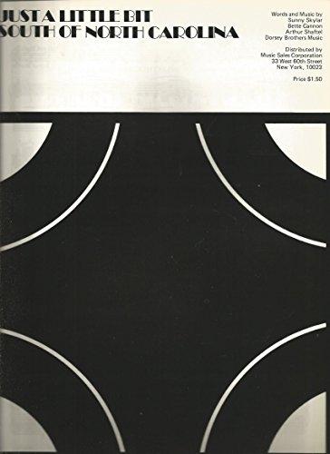 Sheet Music 1960's Just A Little Bit Of North Carolina Sunny Skylar (Skylar Sheet Music)