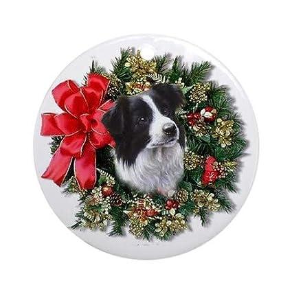 Amazon Com Uniquepig Border Collie Ornament 2018 Ceramic Christmas