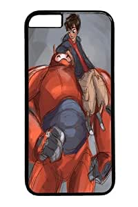 Bay Max Big Hero 6 Hiro And 3 Custom iPhone 6 4.7 inch Case Cover Polycarbonate Black