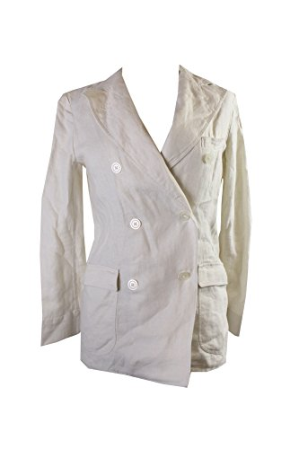 Denim & Supply Cream Linen Double-Breasted Jacket S