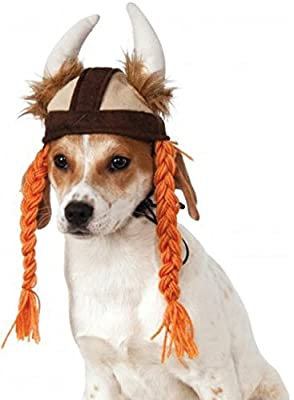 Rubies Costume Company Viking Hat with Braids for Pets