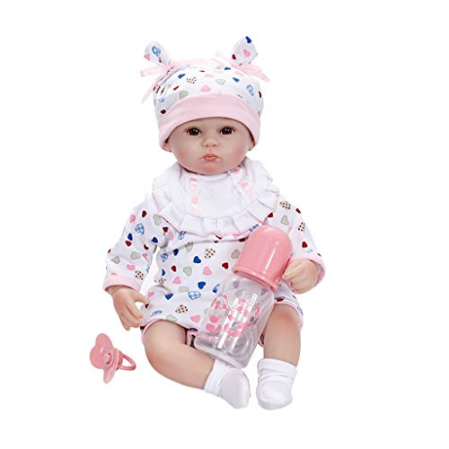 (SM SunniMix 18'' Lifelike OtardDolls Newborn Baby Doll Soft Simulation Vinyl Boy Girl Sleeping Toy with Magnetic Pacifier)