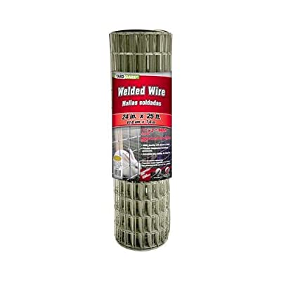 Midwest Air Tech/Import 309320A 24-In. x 25-Ft. Galvanized Welded Wire Fence