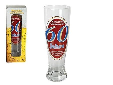 Weizenbier Glas Herzlichen Gluckwunsch 60 Jahre Bierglas