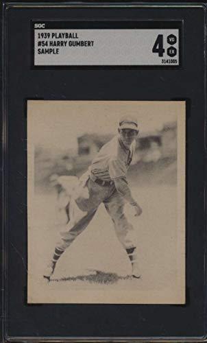 1939 Play Ball Sample #54 Harry Gumpert SGC 4 VGEX 52044