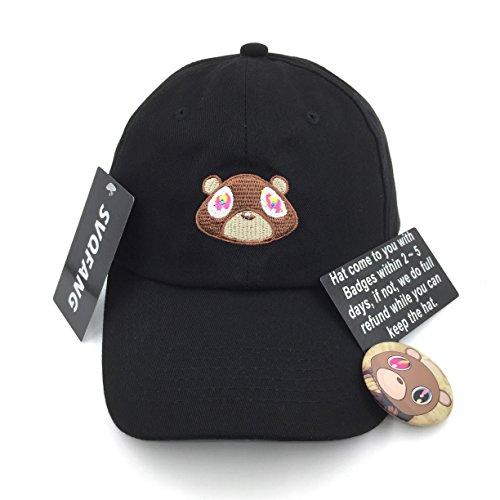 fd56c015dc8 Kanye West Bear Hat Dad Hat Strap Back Costume Head Men Women New - Buy  Online
