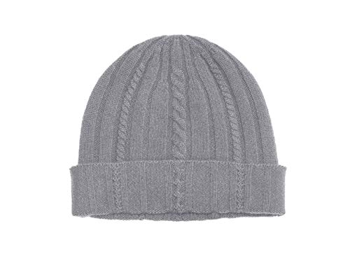 (State Cashmere 100% Pure Cashmere Cable Knit Beanie Hat - Ultimate Soft, Warm and Cozy)