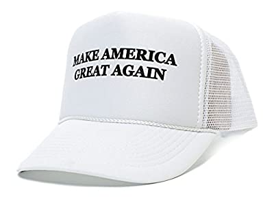 Make America Great Again! - Trump 2016 Unisex-adult Adjustable Cap Beautiful Embroidered Text (White)