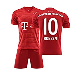 Rayuwen Tee Shirt Foot #10 Arjen Robben Coupe du Monde EntraîNement International FC Jersey Kit Scolaire International pour Jeunes Adultes