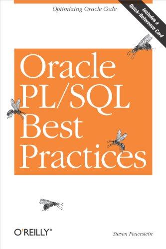 Download Oracle PL/SQL Best Practices: Optimizing Oracle Code Pdf