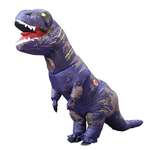 Adult Giant Skeleton Inflatable Dinosaur Costume T-Rex Blow up Dino Fossil Costume Halloween Adult Reptar Inflatable Costume (Adult(150-190cm), -
