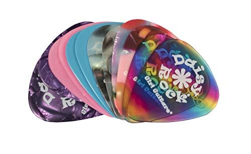 Daisy Rock Variety Premium Picks-12 Pack Guitar Picks (DRP-8) (Picks Guitar Rock Girls)
