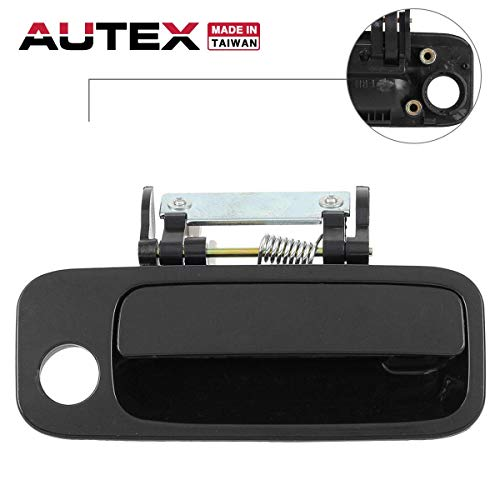 (AUTEX 1pc Black Interior Inner Front Right (Passenger Side) Door Handle Compatible with Toyota Avalon 2000 2001 2002 2003 2004 69210AC030C0 80339 TO1311131 )