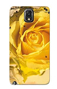 New Yellow Rose Tpu Case Cover, Anti-scratch ZZEwbmU548TewGv Phone Case For Galaxy Note 3