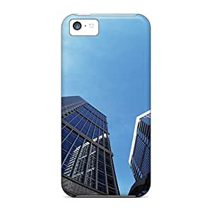 UzKPMoP3331NNjKa Tpu Phone Case With Fashionable Look For Iphone 5c - High Rise Buildings