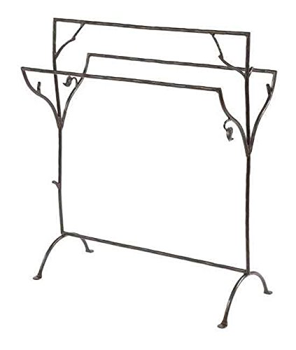Stone Country Ironworks Sassafras Blanket Stand Hand Rubbed Brass 205750-OG-142823-O-759582 by Stone Country Ironworks