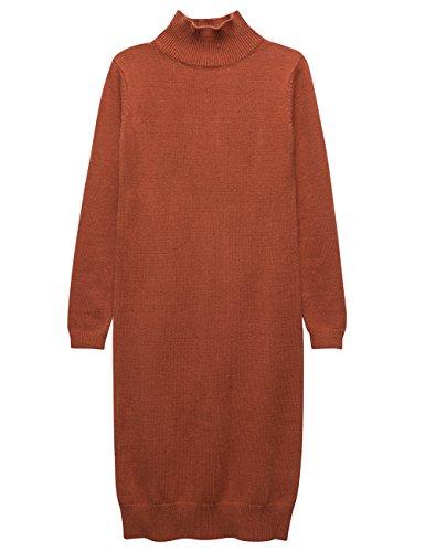 orange and beige dress - 8