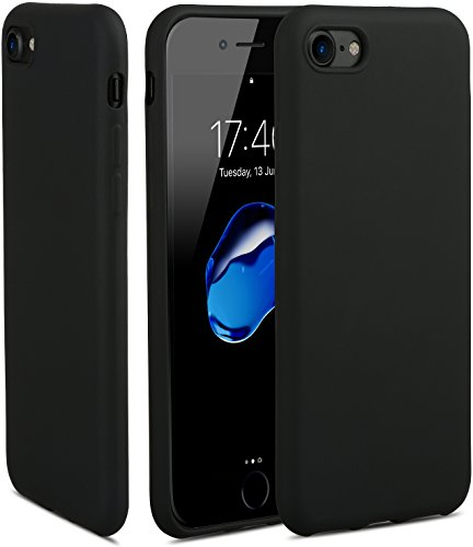 HZ BIGTREE iPhone 7 Case, Full Matte Soft Touch Slim-Fit Flexible TPU Case with Superior Coating [Skin feeling] Cover for Apple iPhone 7 4.7 inch - Matte Jet Black (Jet Black Matte)