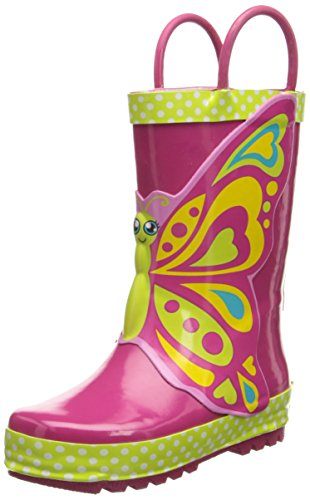 Western Chief Girls Printed Rain Boot, Butterfly Star, 3 M US Little Kid