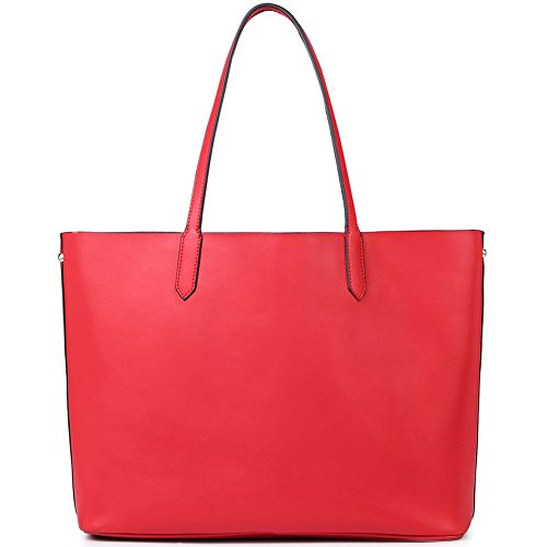 Vera a Donna Pelle Tote Shoulderbag Top rosso vino Spalla Handbag Sacchetta NAWO Borsa Manico Handle XdTgUwXnq