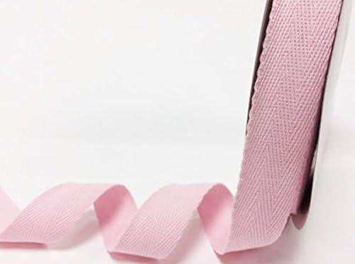 Cinta de espiga Berties Bows de algodón, rosa pálido, 25 mm de ...