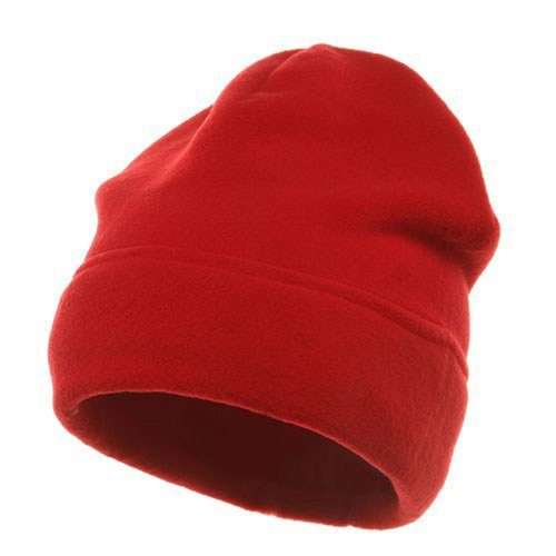 Sonette/Yupoong Veloured Polar Fleece Beanie-Red