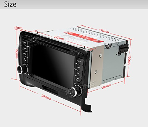 XTRONS 7 Inch HD Digital Touch Screen Car Stereo In-Dash DVD Player with GPS Navigation Dual Channel CANbus Screen Mirroring Function for Audi TT MK2 Kudos Map Card Included by XTRONS (Image #8)
