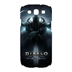 Back Skin Case Shell Samsung Galaxy S3 I9300 Cell Phone Case White diablo igry Dvblq Pattern Hard Case Cover