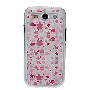 Pink Flowers Drawing Pattern Neutral Stiffiness Silicone Gel Back Case Cover for Samsung Galaxy S3 I9300