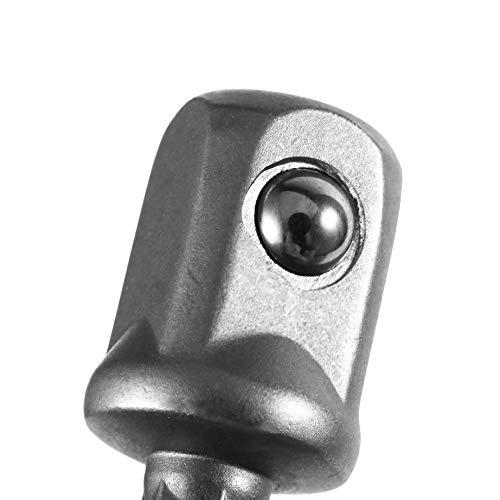 ningbao651 3Pcs Chrome Vanadium Steel Socket Adapter Set Hex Shank to 1//4 3//8 1//2 Extension Drill Bits Bar Hex Bit Set Power Tools