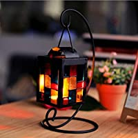 Longay Retro Iron Moroccan Style Christmas Candlestick Lamp Candleholder Light