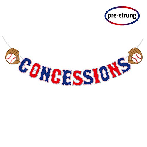 Kitticcino Baseball Theme Concessions Banner-Sports Party Decorations -