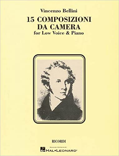 Book 15 Composizioni Da Camera: Low Voice by Bellini Vincenzo (1997-12-01)