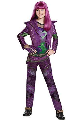 Fairy Costume With Leggings (Disney Mal Deluxe Descendants 2 Costume, Purple, X-Large (14-16))