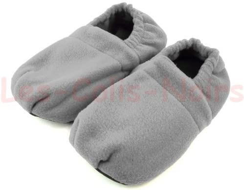 Pantuflas calentadoras estilo HOT SOX, talla L (39-42), color gris ...